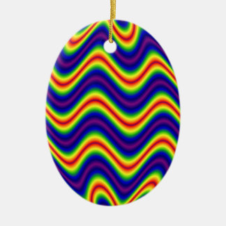 colorful yellow blue christmas ornament
