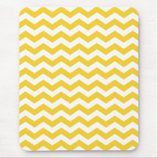Colorful Yellow Chevron Stripes Mouse Pad