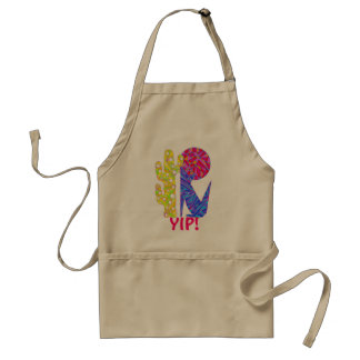Colorful YIP Southwest Coyote Wolf Moon BBQ Apron
