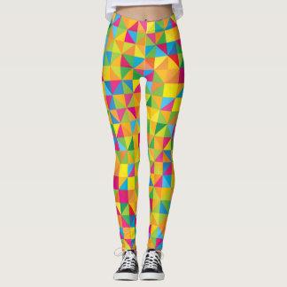 Colorful Z16 squares super crazy design Leggings