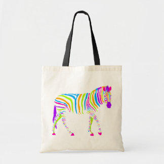 Colorful Zebra Budget Tote Bag