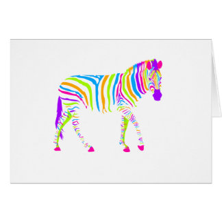Colorful Zebra Card