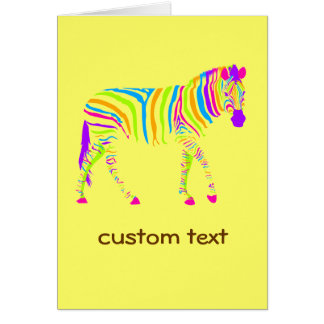 Colorful Zebra Greeting Card