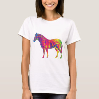 Colorful Zebra Illustration T-Shirt