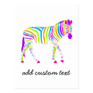 Colorful Zebra Postcard