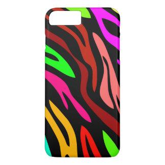 Colorful Zebra Print Pattern iPhone 7 Plus Case