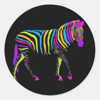 Colorful Zebra Stickers