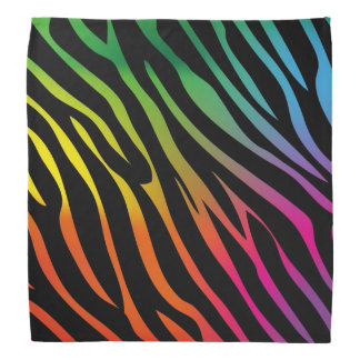 Colorful zebra texture bandana