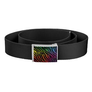 Colorful zebra texture belt