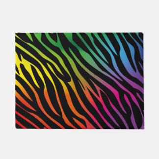 Colorful zebra texture doormat