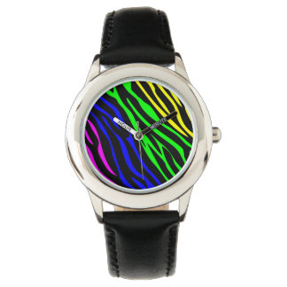 Colorful zebra texture watches