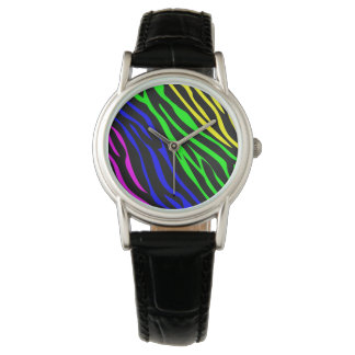 Colorful zebra texture wristwatches