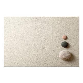 Colorful Zen Stones On Sand Background Photo Print