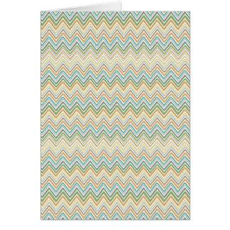 Colorful Zig Zag Pattern Background Card