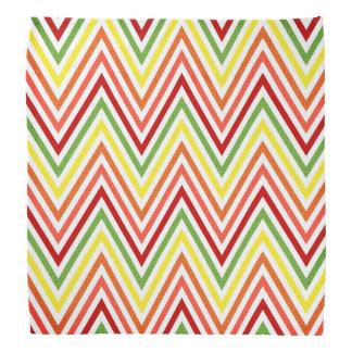 Colorful Zigzag Chevron Pattern Bandana