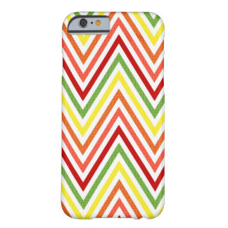 Colorful Zigzag Chevron Pattern Barely There iPhone 6 Case
