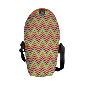 Colorful Zigzag Chevron Pattern Messenger Bags