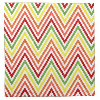 Colorful Zigzag Chevron Pattern Napkin