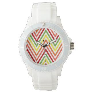 Colorful Zigzag Chevron Pattern Watch