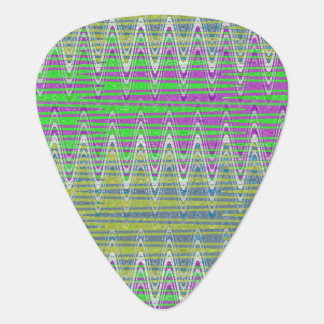 Colorful Zigzag Pattern Guitar Pick