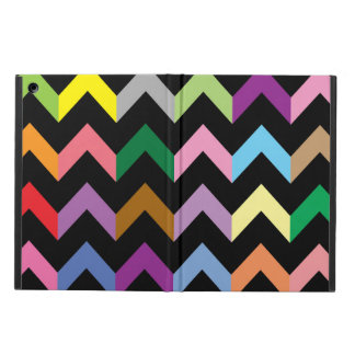 Colorful zigzag pattern iPad air case