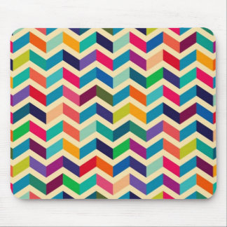 Colorful Zigzag Pattern Mouse Pad