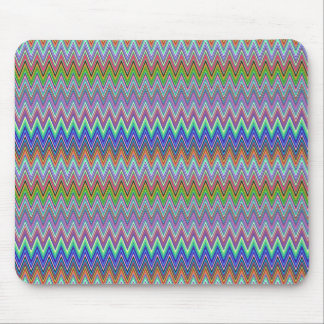 Colorful Zigzag Print Mousepad