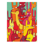 Colorfull animals post card