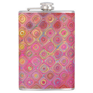 Colorfull Artistic Retro Pattern Flask