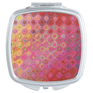 Colorfull Artistic Retro Pattern Mirror Mirror For Makeup