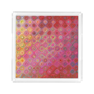 Colorfull Artistic Retro Pattern Tray