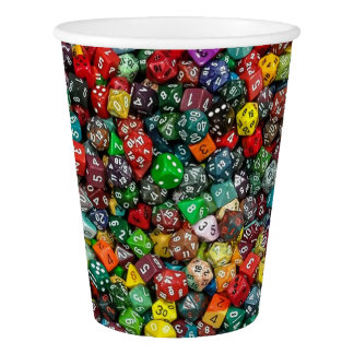 Colorfull Dice Paper Cup