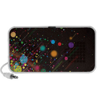 Colorfull dots laptop speakers