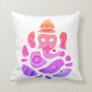 Colorfull Ganesha Elepnat God  Throw Cushion