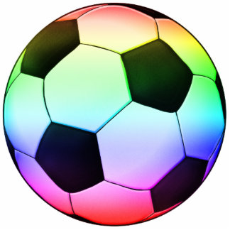 Colorfull Soccer Ball (football) Standing Photo Sculpture