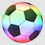 Colorfull Soccer | Football Sport Round Stickers