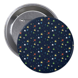 Colorfull Stars Large, 3 Inch Round Button