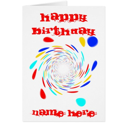Colorfull Swirl Pattern Cards