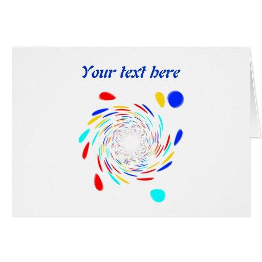 Colorfull Swirl Pattern Greeting Card