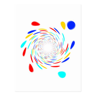 Colorfull Swirl Pattern Post Cards