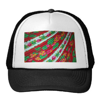 Colorfull-textile-with-fringes614 RED WHITE GREENS Trucker Hat