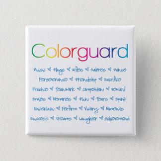 Colorguard 15 Cm Square Badge