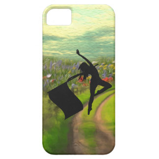 Colorguard Dancer Leaping with Flag iPhone 5 Cover
