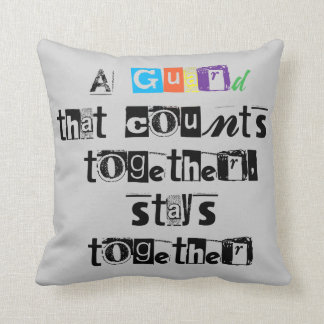 Colorguard   Decorative Pillow with Quote