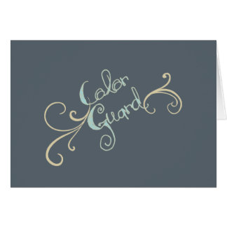 Colorguard  Graphic with Swirl on Greeting Cards