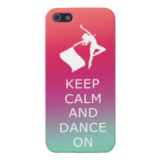 "Colorguard ""Keep Calm and Dance On"" iPhone 5 Covers"