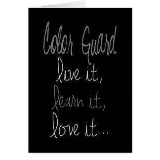 Colorguard: Live It, Learn It, Love It Cards
