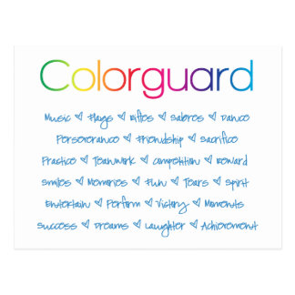 Colorguard Postcard
