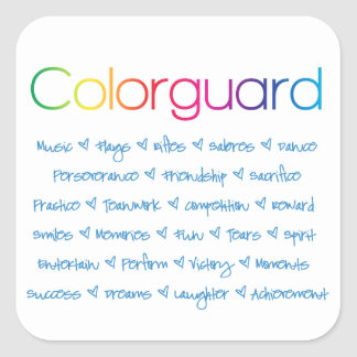 Colorguard Square Sticker