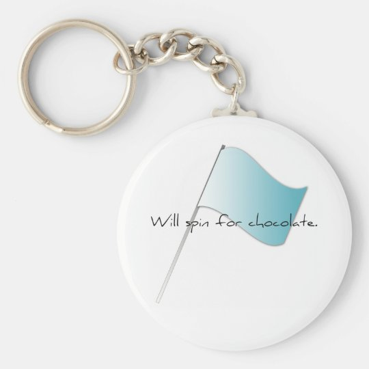 "Colorguard ""Will spin for chocolate"" Key Ring"
